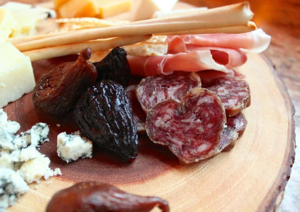 closeup cheese platter