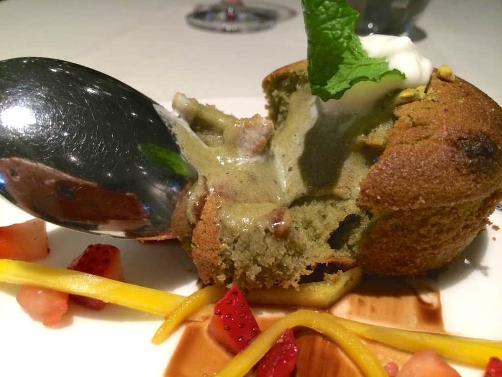 oozing pistachio dessert
