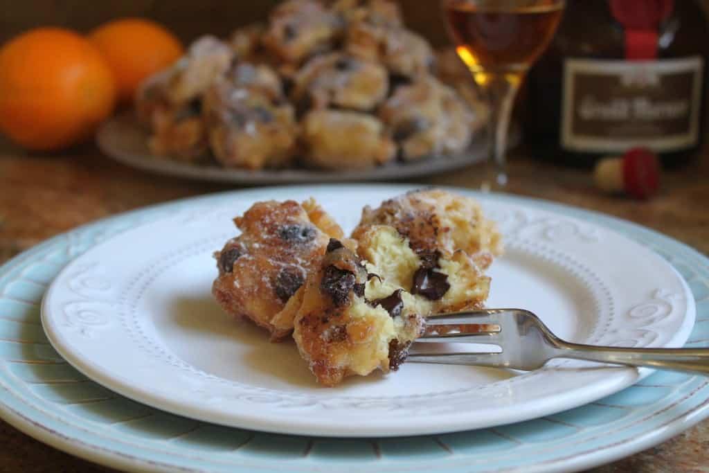 Ricotta Doughnuts with Chocolate and Raisins