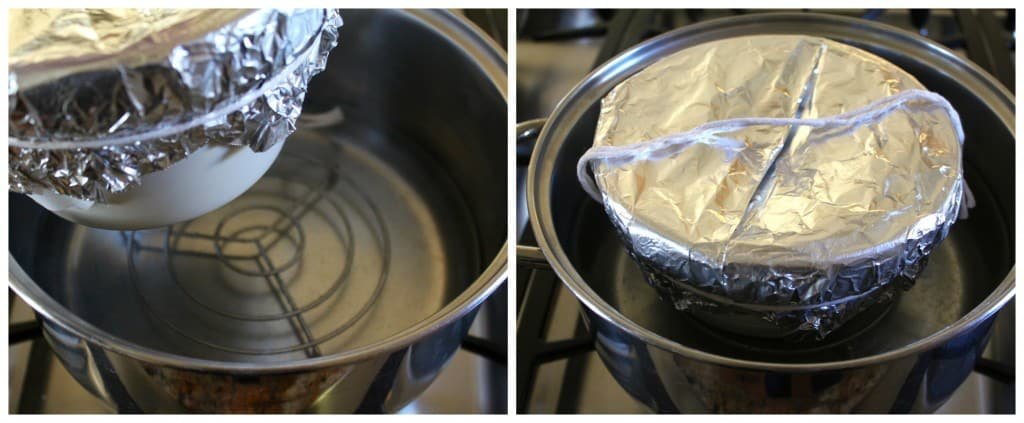 steaming a treacle pudding