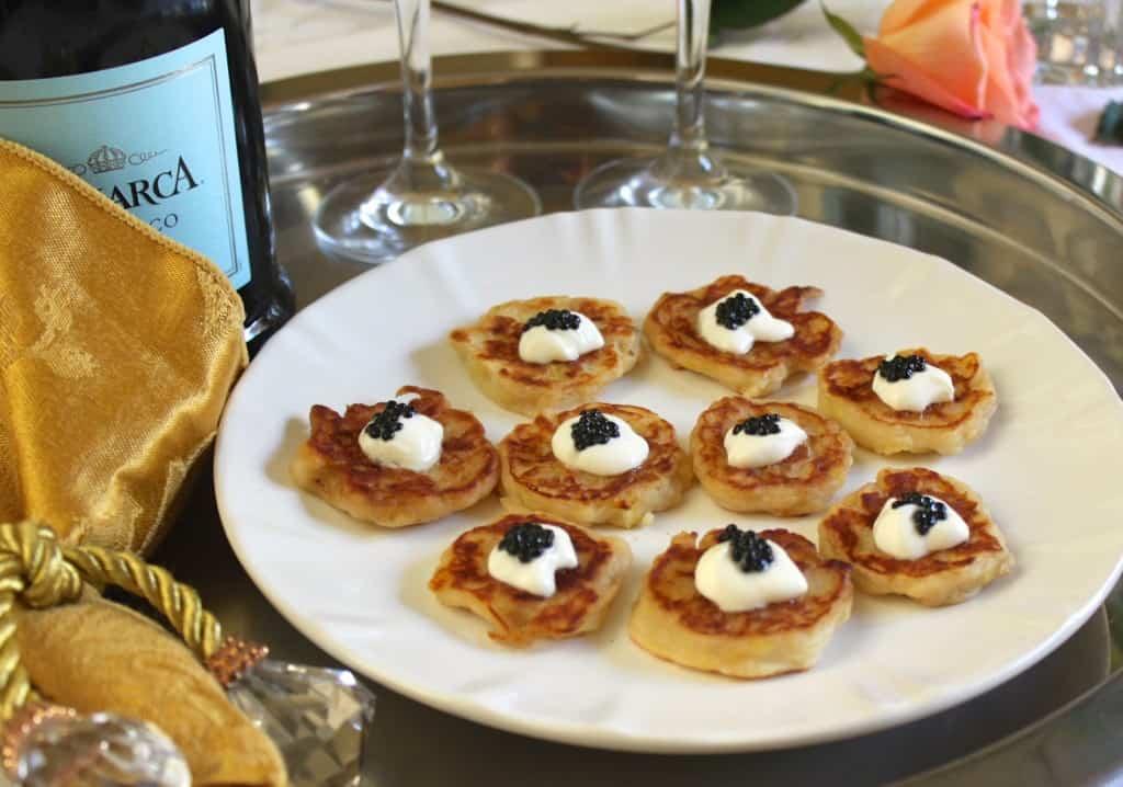 Truffle Caviar Boxty appetizers