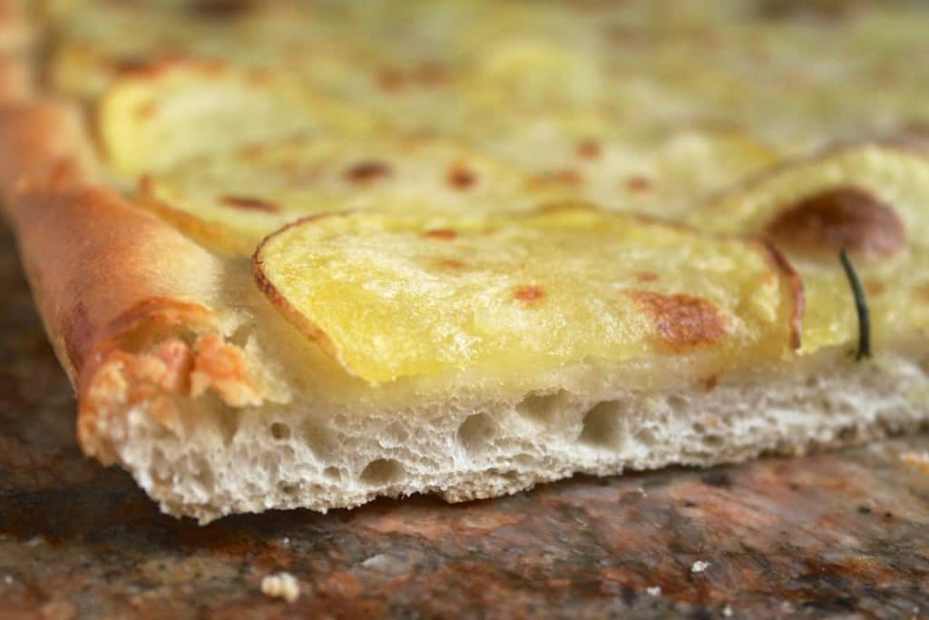 close up potato pizza