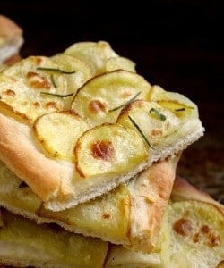 Authentic Italian Potato Pizza (Pizza con Patate) with Yellow Idaho® Potatoes