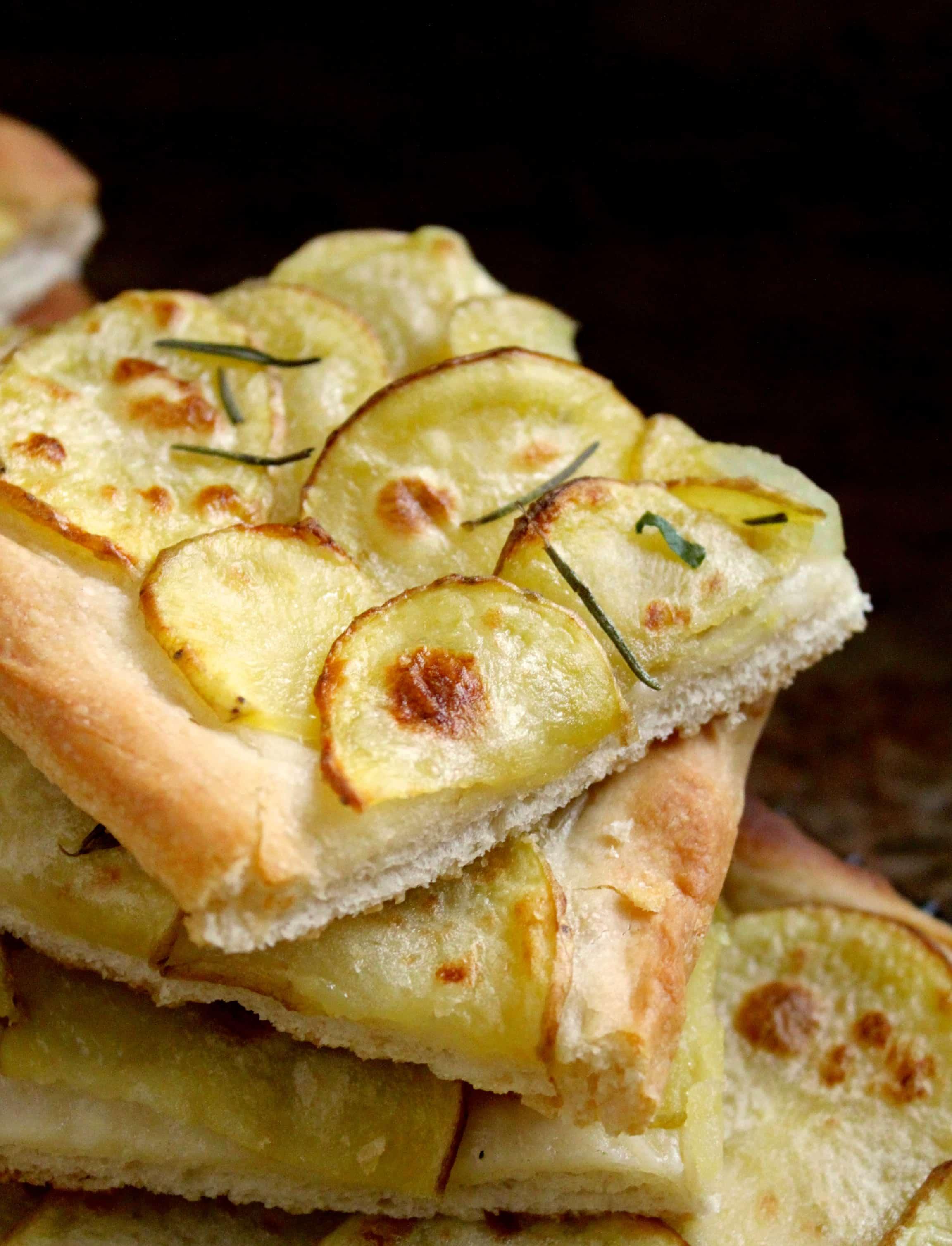 Authentic Italian Potato Pizza Pizza Con Patate With