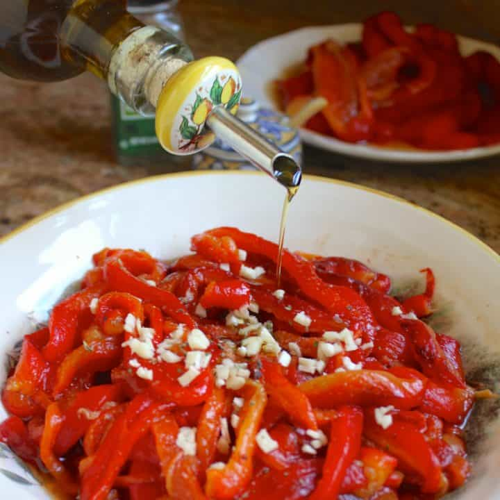 Roasted red pepper antipasto