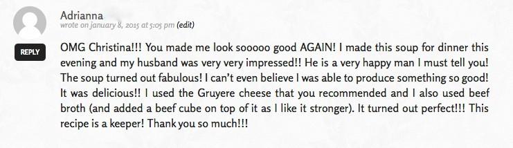 Adrianna's compliment