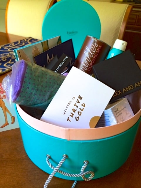 Tieks and Thrive surprise in a hat box