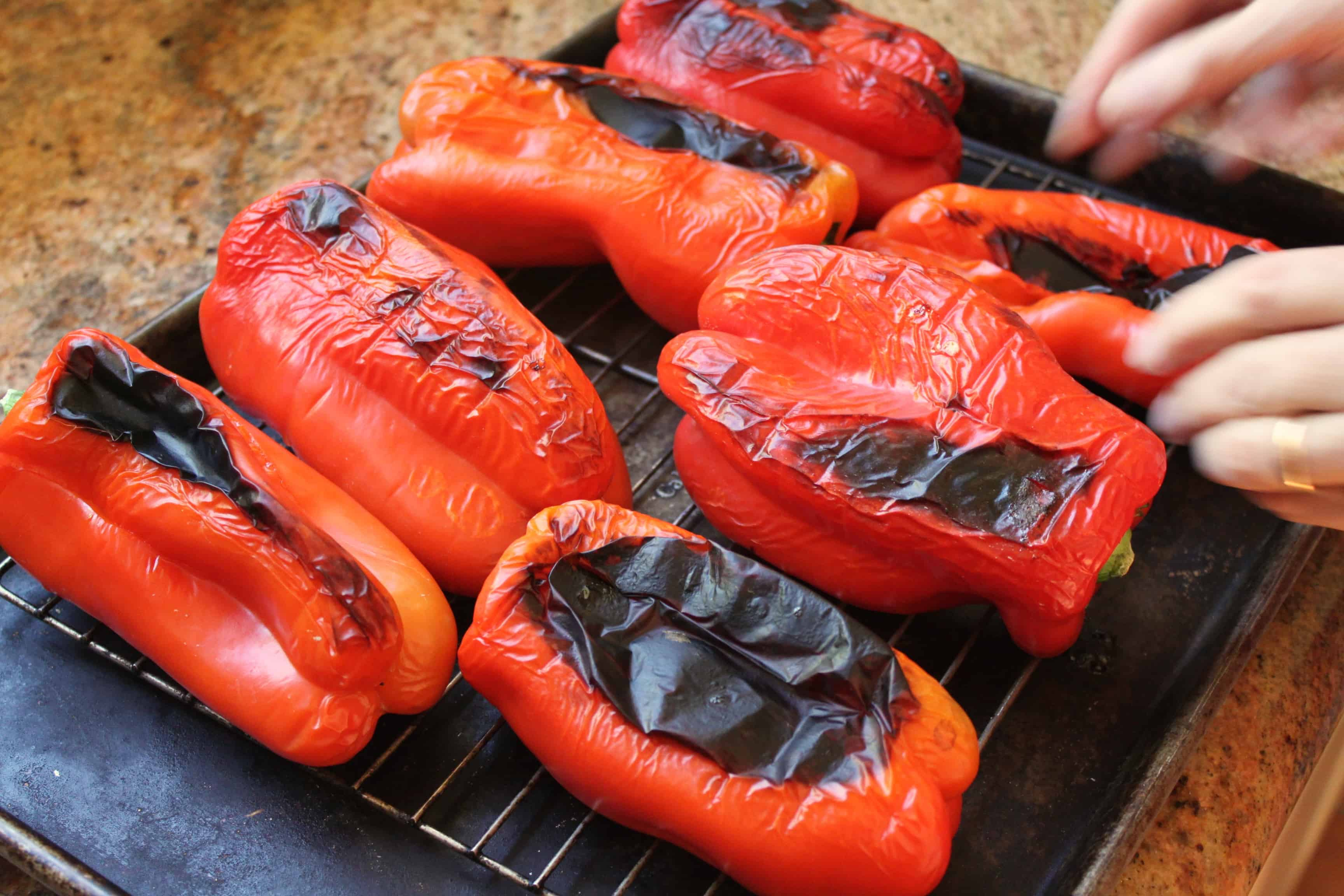 How to Roast Red Peppers & Italian Red Pepper Antipasto ...