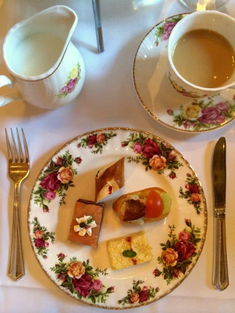 Tea setting at the Biltmore