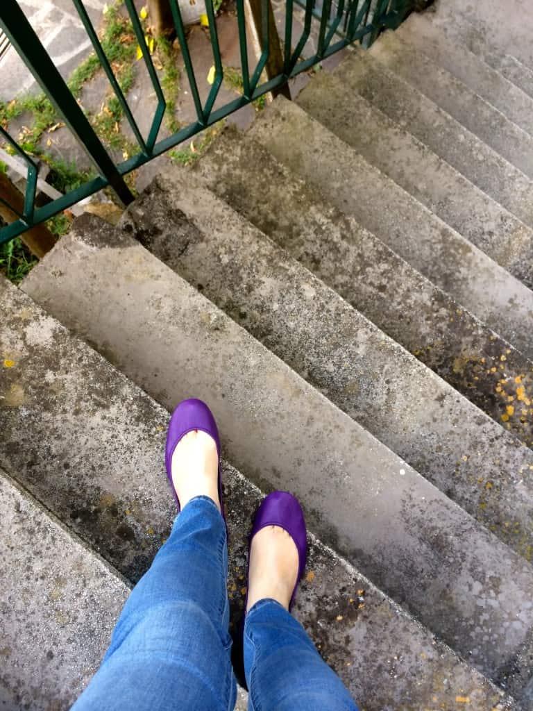 Tieks on Nonno's steps