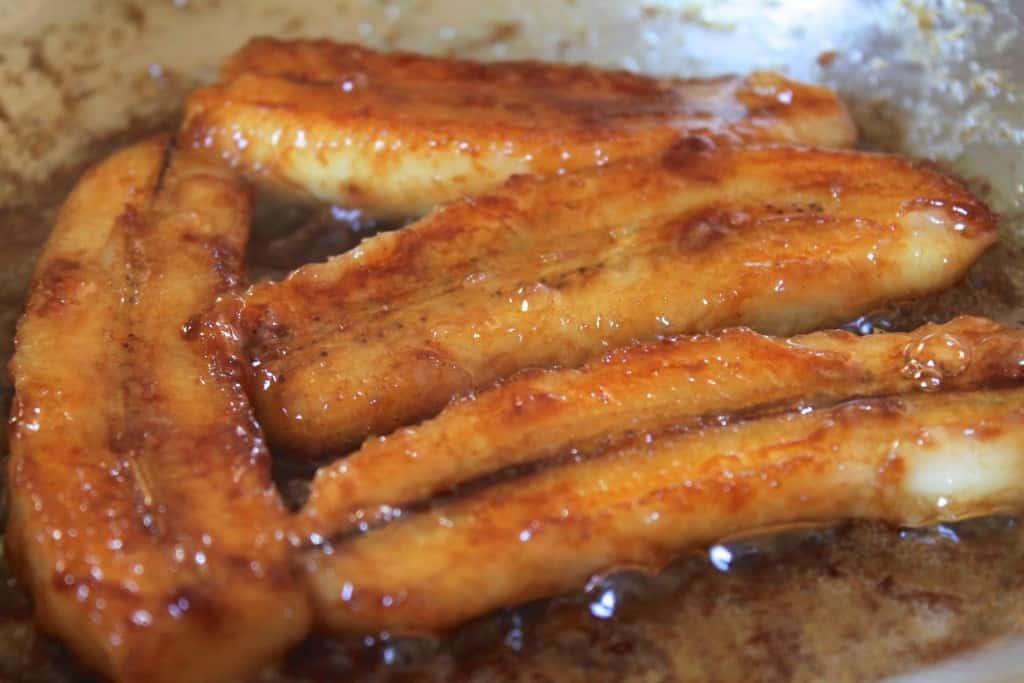 caramelizing bananas