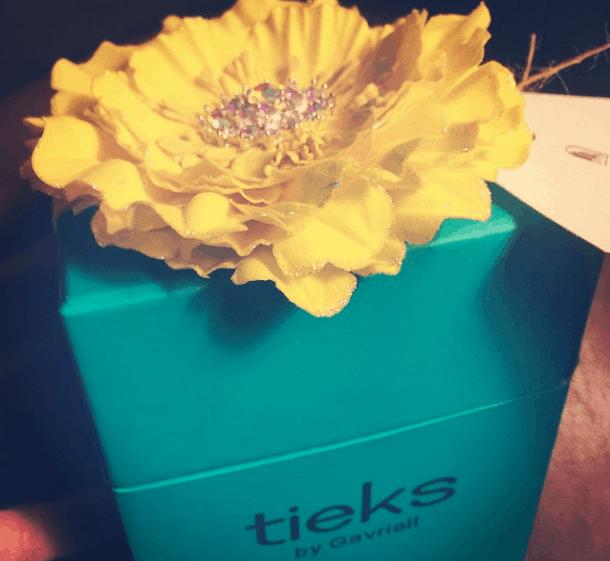 Lilac Tieks box traveling with tieks