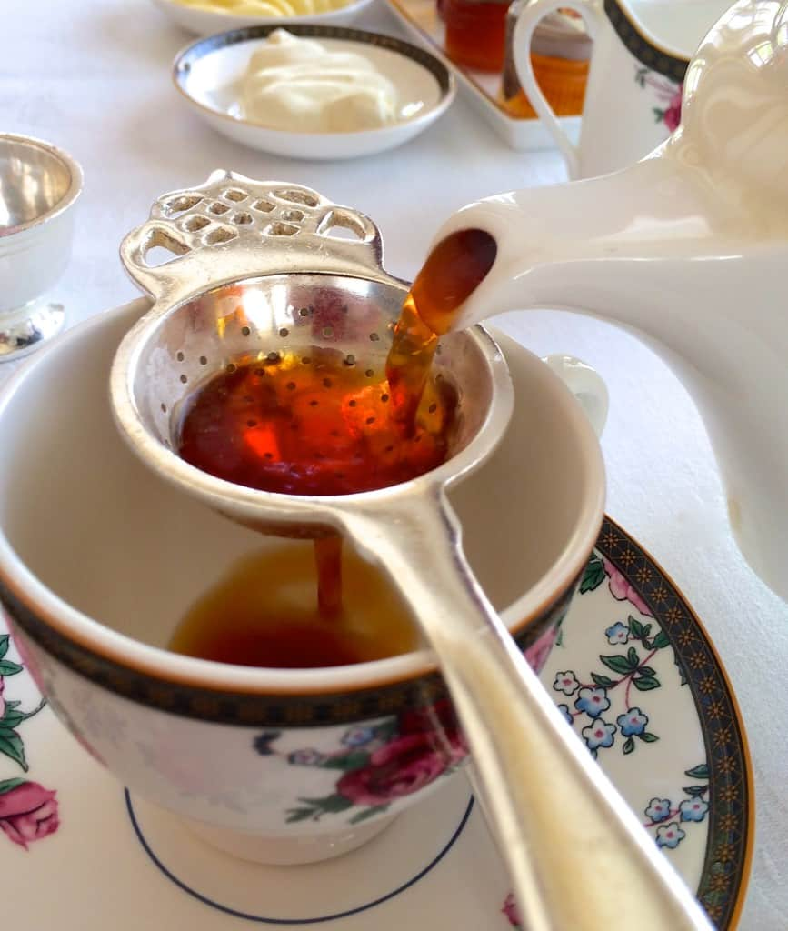 Pouring tea at The Langham