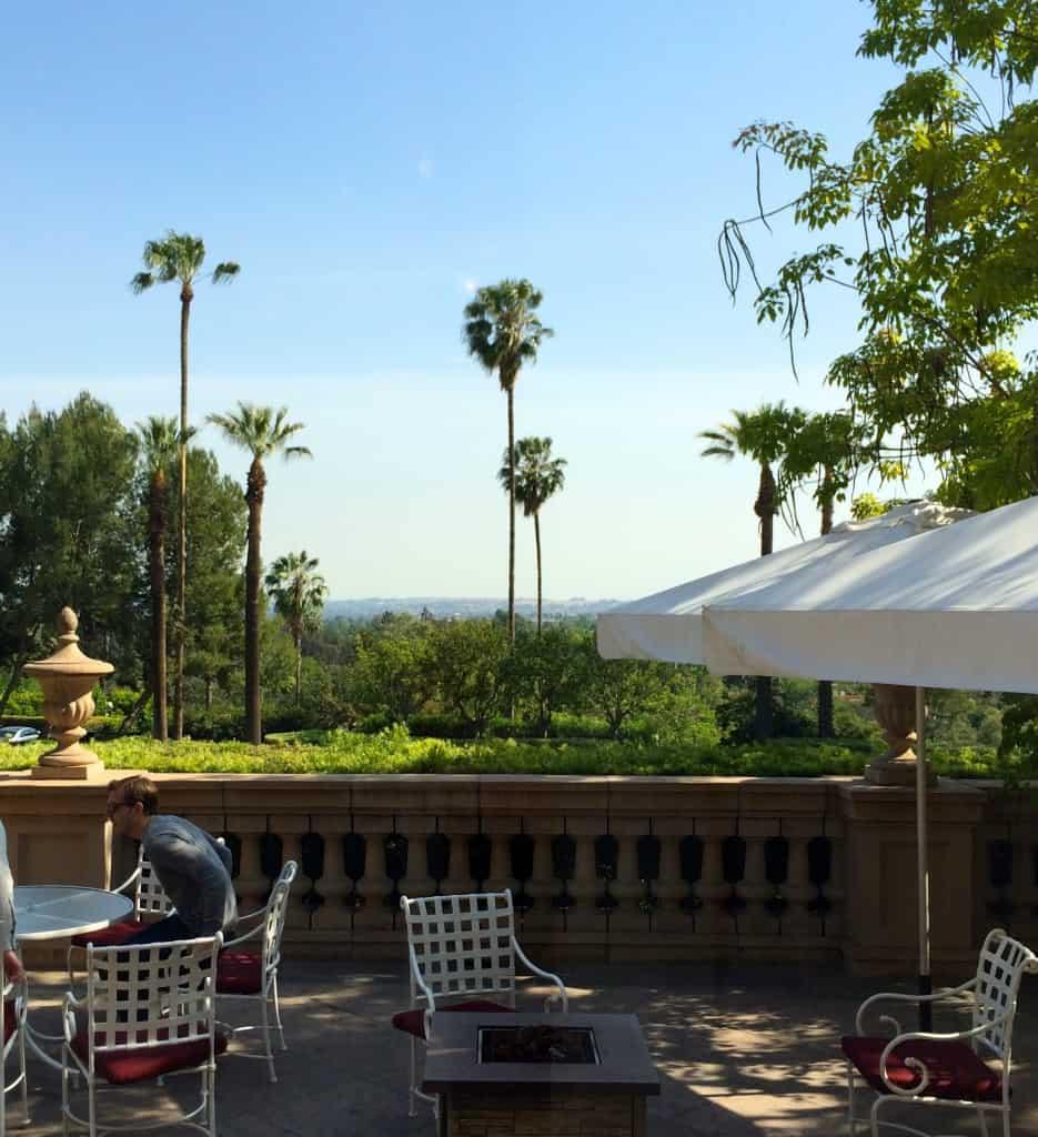 View from The Lobby Lounge, Langham Huntington, Pasadena