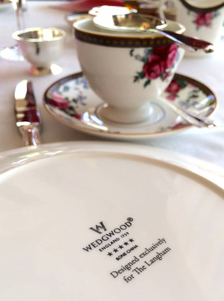 wedgwood china for Langham