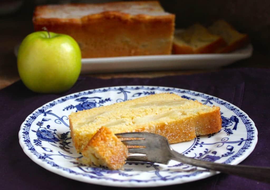 Piece of apple cornbread