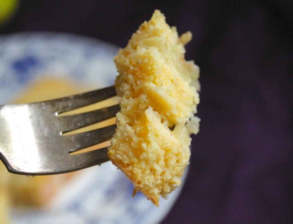 Forkful apple cornbread
