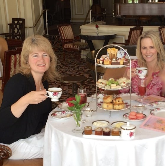 Afternoon tea with Cynthia at Langham Pasadena