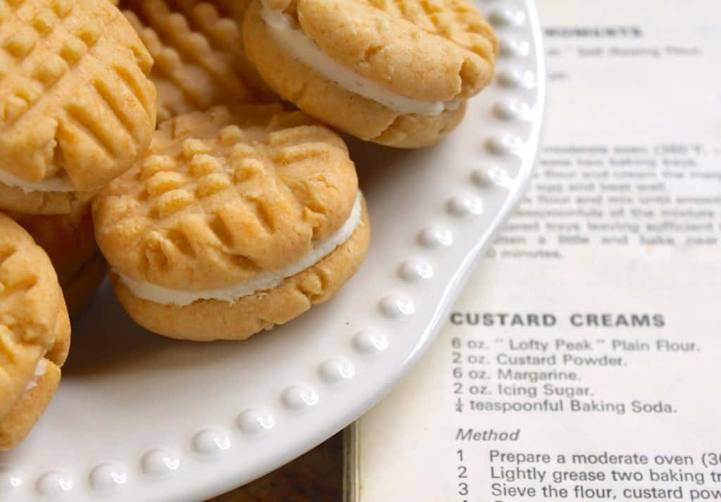 Custard Creams with recipe book