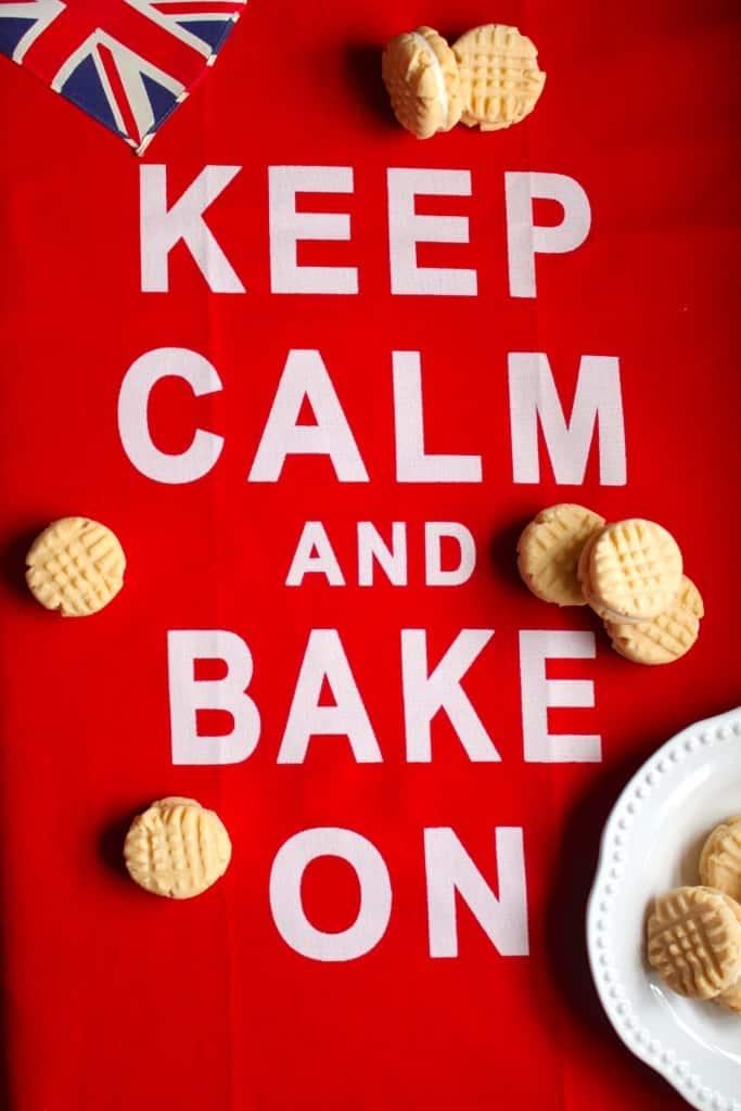 Keep Calm and Bake On Custard Creams