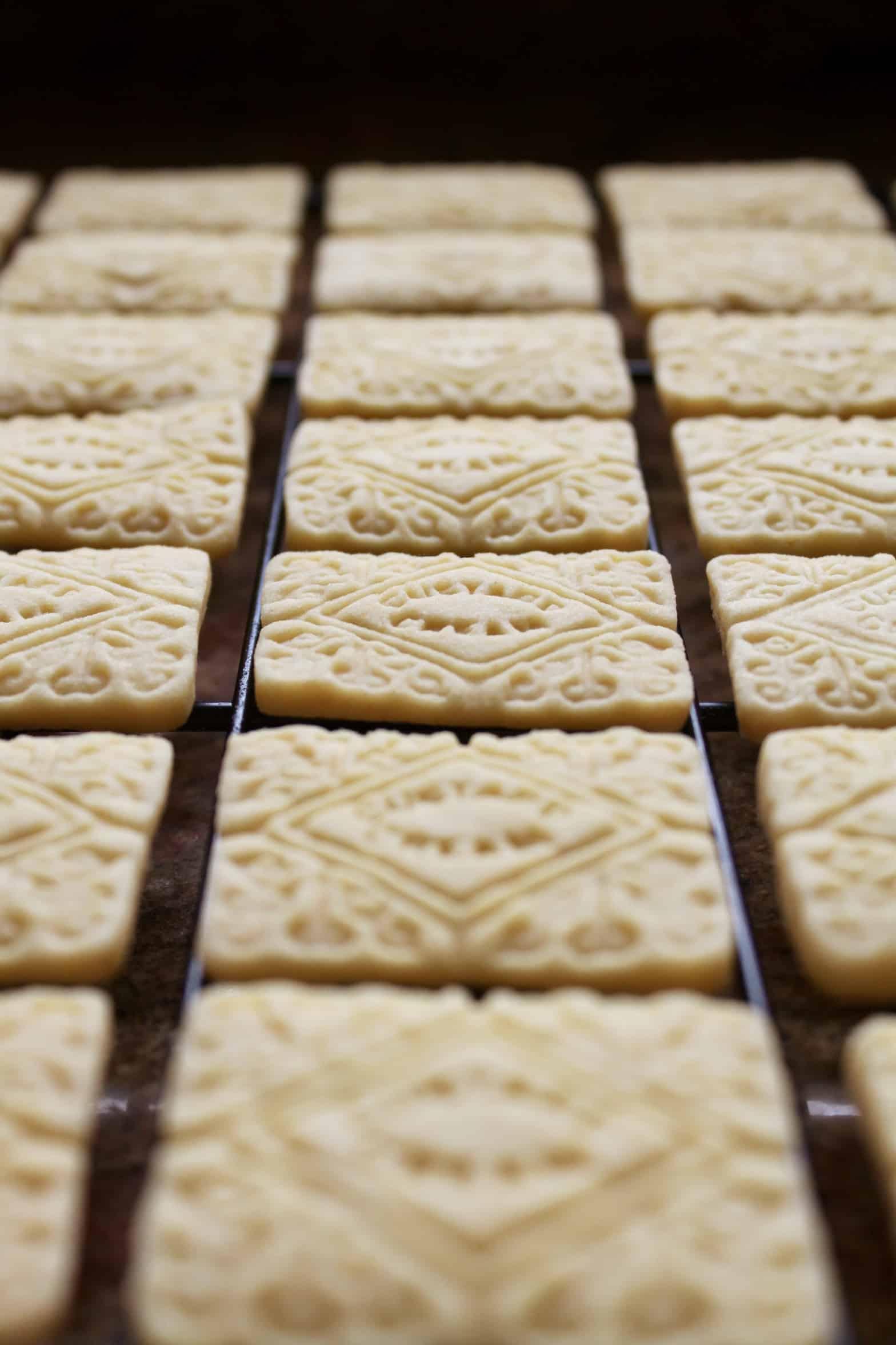 rows of custard creams
