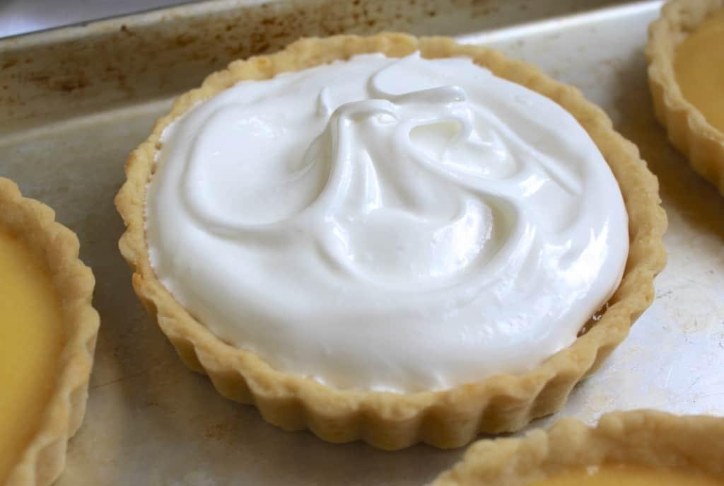 meringue topped tartlet