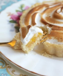 Passion Fruit and Lemon Meringue Tartlet