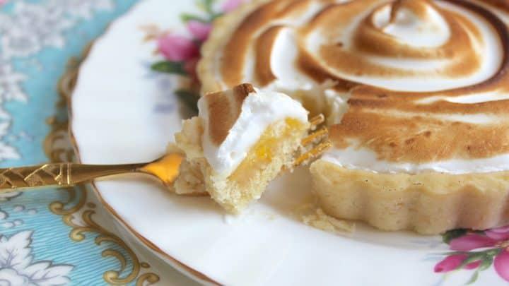 Passion Fruit and Lemon Meringue Tartlets from a Teatime in Paris Cookbook