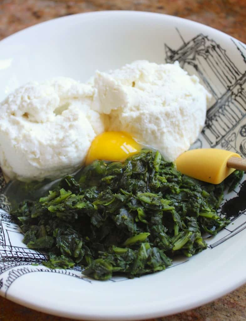 spinach ricotta and egg filling
