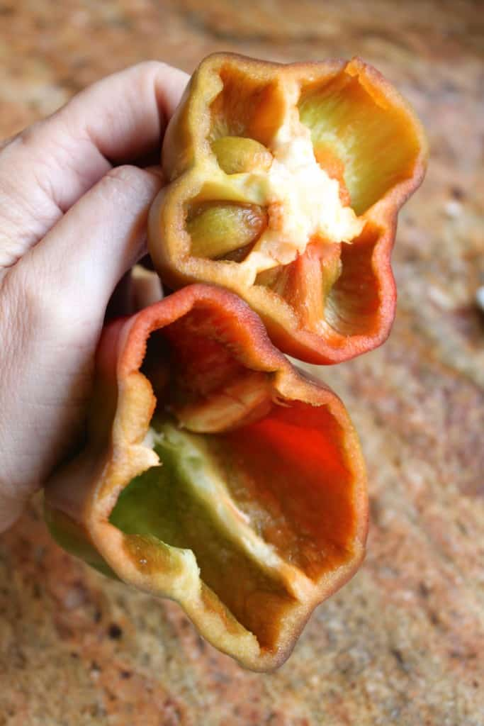 preparing bell pepper