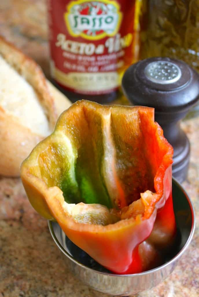 Inside out pepper salad