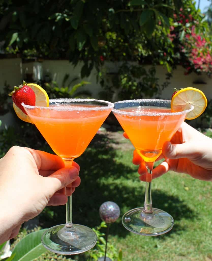 Strawberry Lemon Drop martinis, martinis