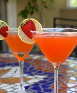Fresh Strawberry Lemon Drop Martini