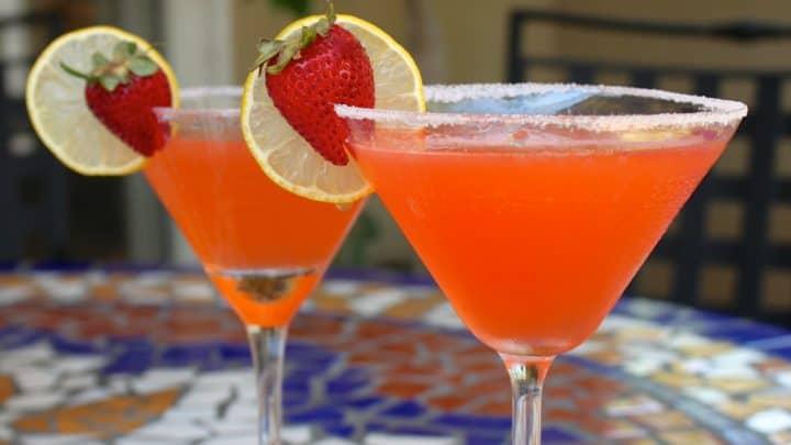 Fresh Strawberry Lemon Drop Martini