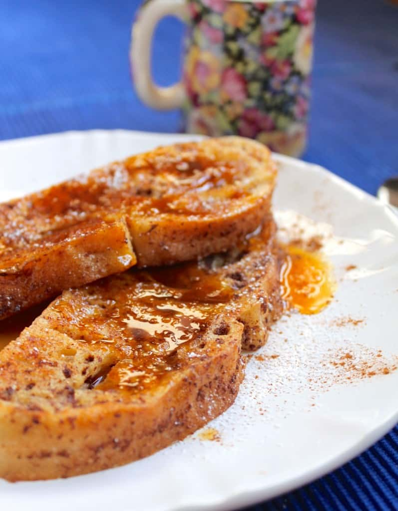 Cinnamon French Toast with Orange Syrup