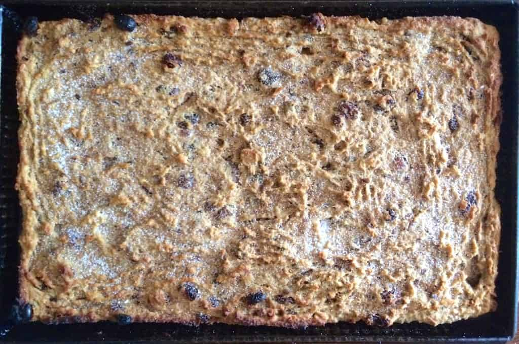 Baked Bread Pudding out of the oven