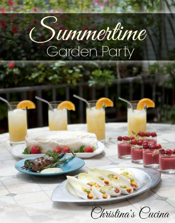 Summertime garden party