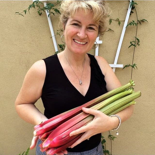 me with rhubarb