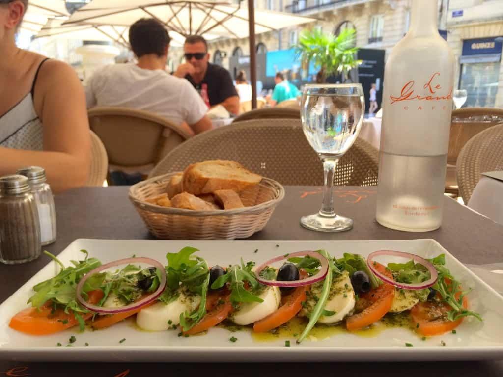 lunch, France, café