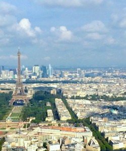 View of the Eiffel Tower from the top of the Montparnasse Tower