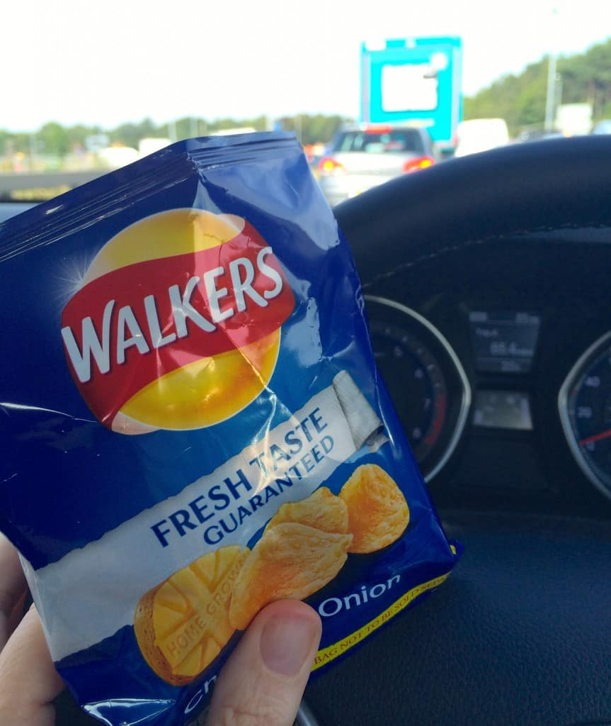 Walker's Cheese and Onion crisps in a traffic jam!