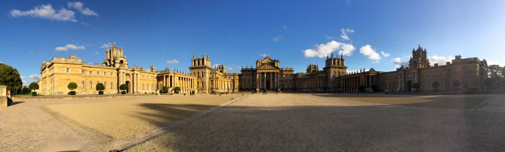 panoramic view of Blenheim Palace