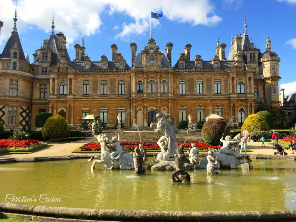 Waddesdon Manor in the sunshine