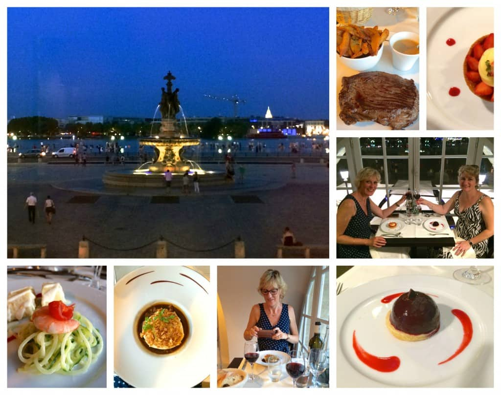 Gabriel food and view in Bordeaux