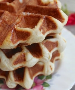 stack of three Liege waffles