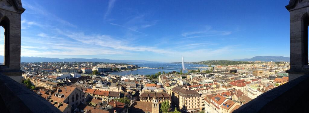 Panoramic view of Geneva