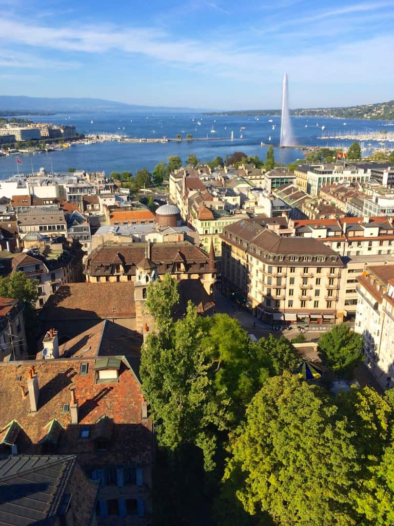 rooftops of Geneva