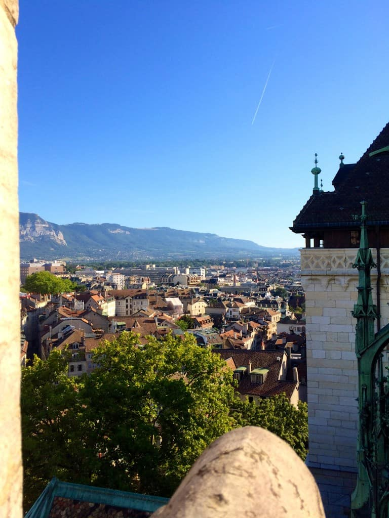 View from St Peters Cathedral in Geneva