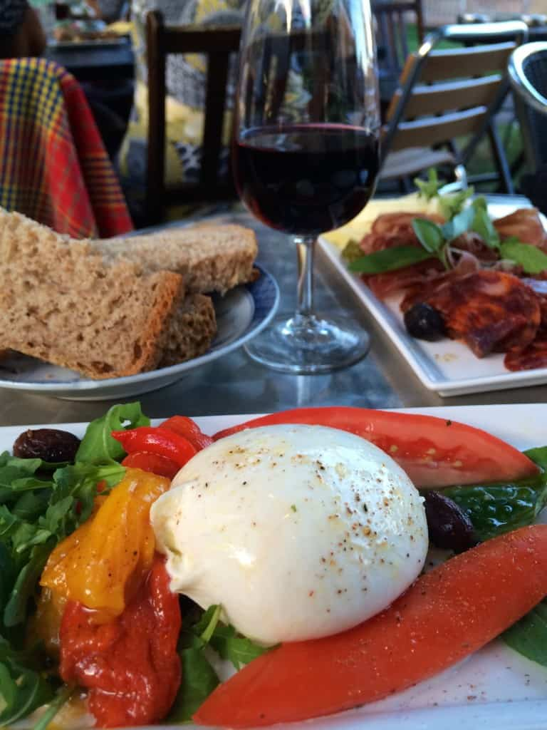 Christina's Cucina Burrata and more at Cottage Cafe