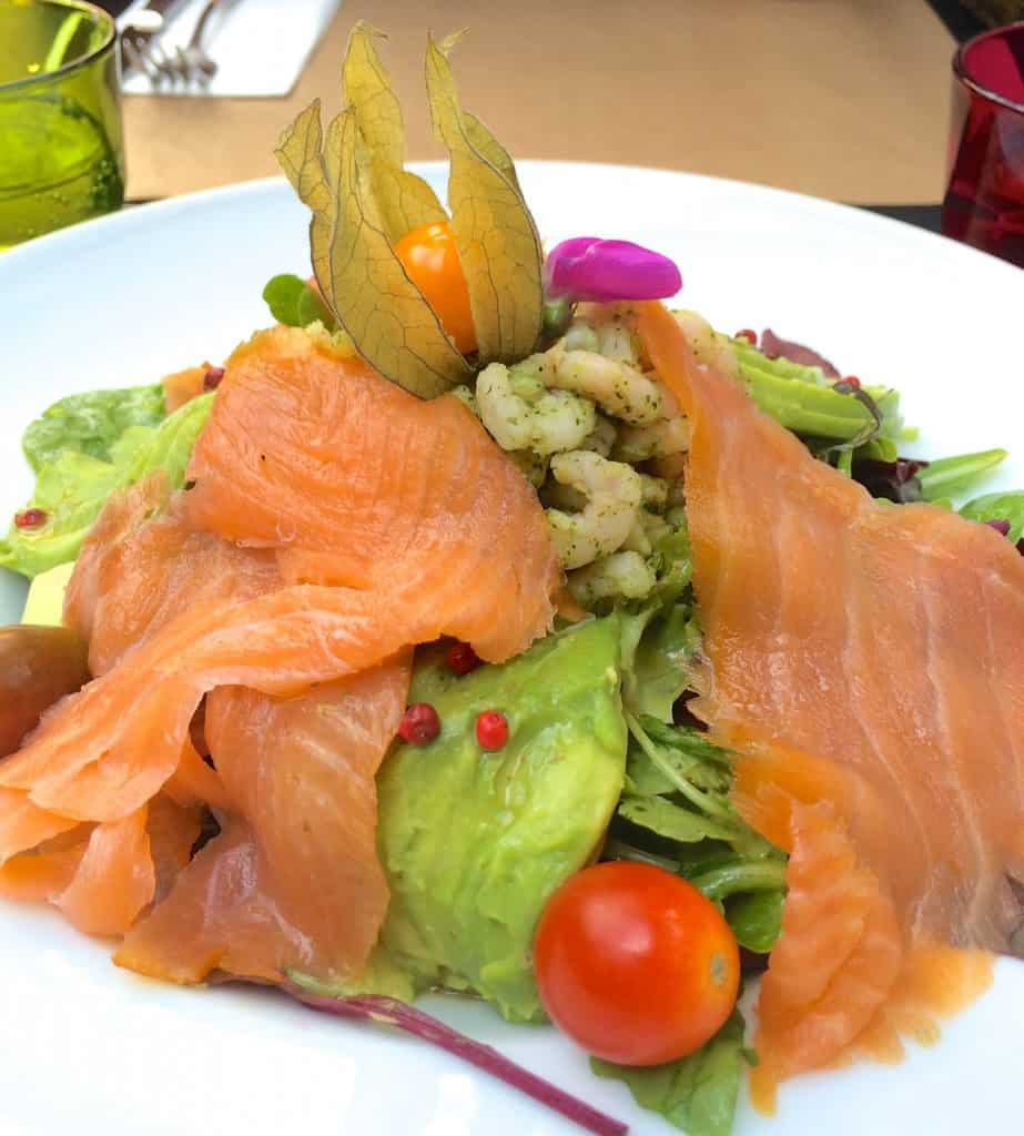 Smoked Salmon Shrimp and Avocado Salad